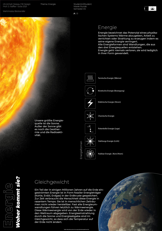 Biotransfer: Energie, ein begehbares Plakat