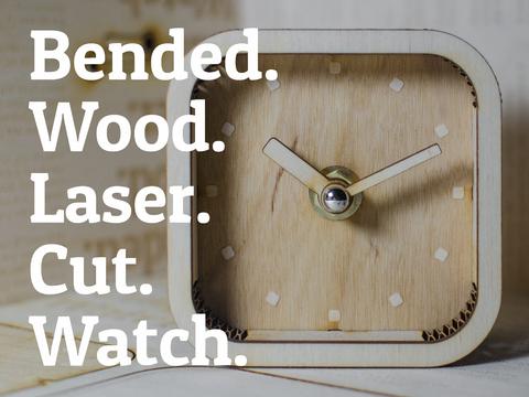 Bended.Wood.Laser.Cut.Watch.